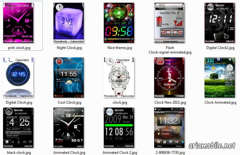 تم با طرح ساعت برای نوکیا سیمبین سری 60 ورژن3  – با فرمت Sis