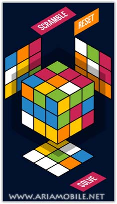 بازی مکعب روبیک Rubik Solver – سیمبیان^3 آنا و بل