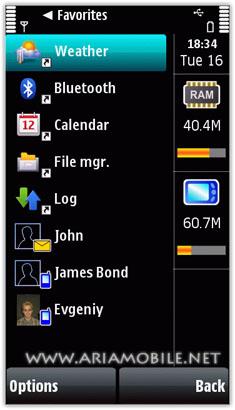 نرم افزار مدیریت پروسس ها Handy Taskman – سیمبیان^۳ و آنا و بل