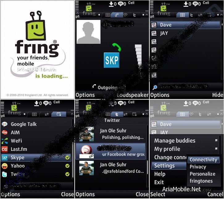 مسنجر موبایل با ساپورت زبان فارسی  Fring v4.04(13)