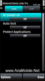 قفل گذاری در بخش های مختلف گوشی Advanced Device Locks Pro 2.07.69 S60v3.v5