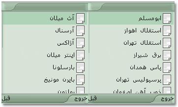 نرم افزار تاریخچه تیم های باشگاهی ایران و جهان  برای تمام گوشی های جاوا