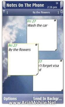 نرم افزار NotesOnThePhone براي نوکيا 5800 و N97-تابلو بادآوري امور روزانه